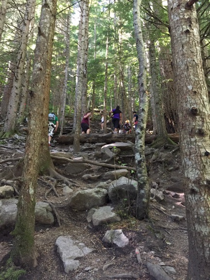 Hill Climb to Lindeman Lake