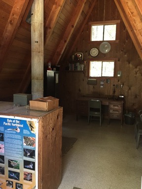 Inside the Hozomeen Ranger Station