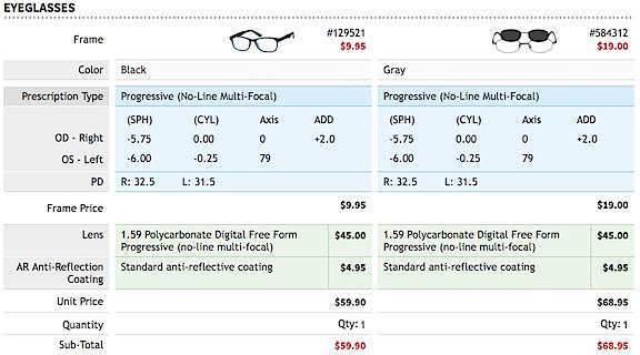 Glasses Order