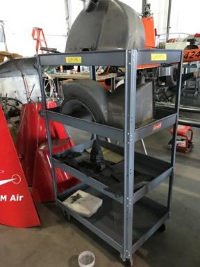 Cart full of parts