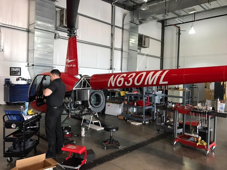 Helicopter in Overhaul