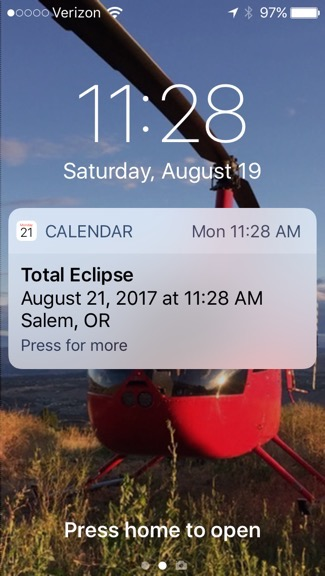 Eclipse Reminder