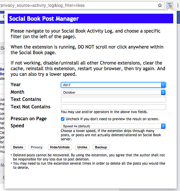 Social Post Book Manager