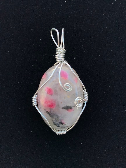 Speckled Agate wrapped in Silver