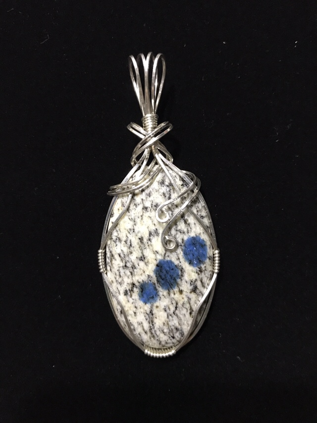 Pendant made from K2 Granite and sterling silver.