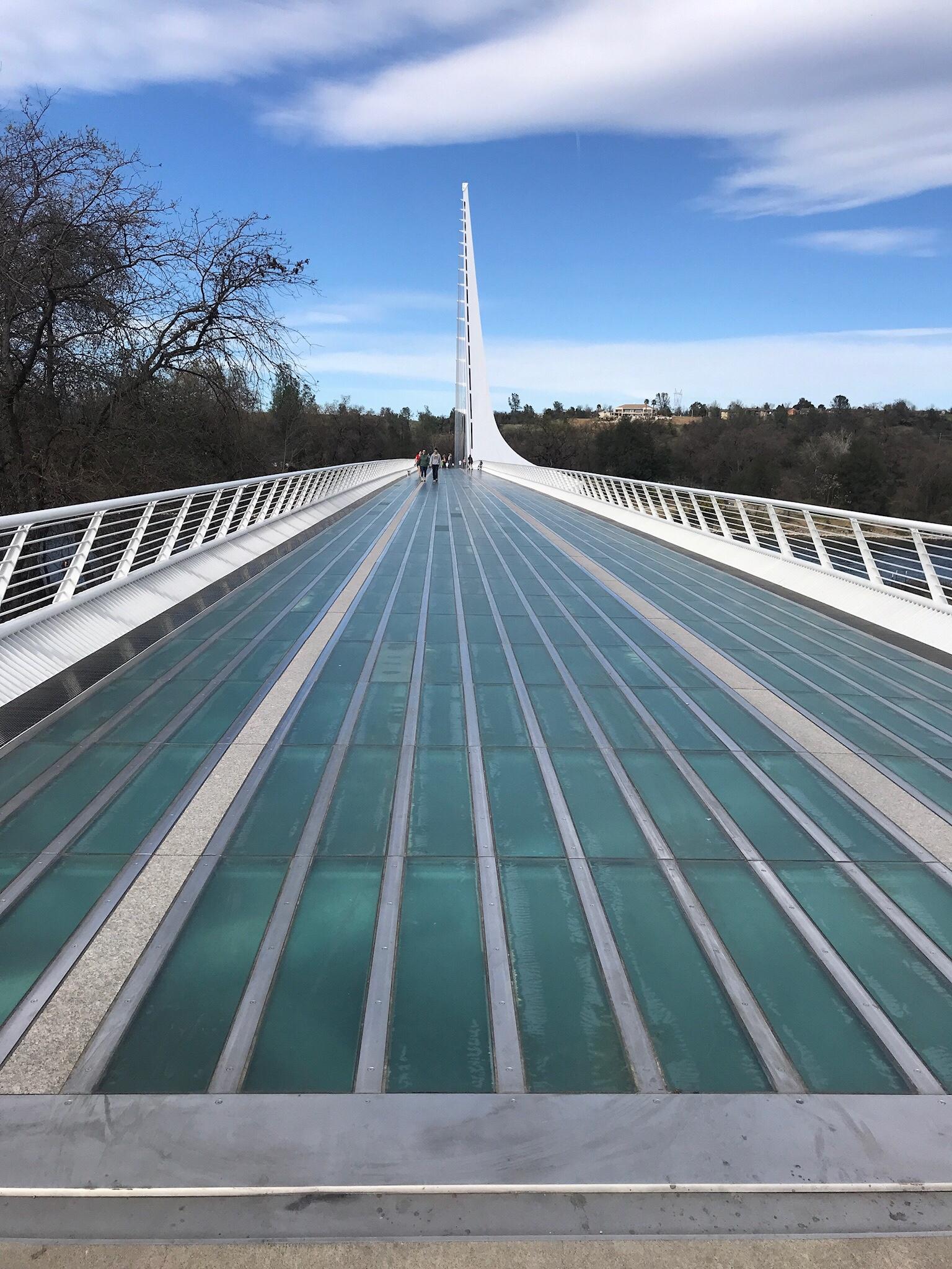 Deck of the Sundial Bridge.